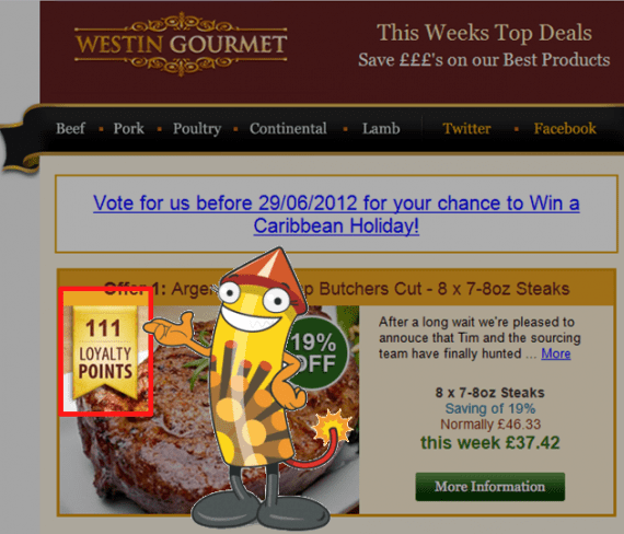 Westin Gourmet rewards customers with loyalty points
