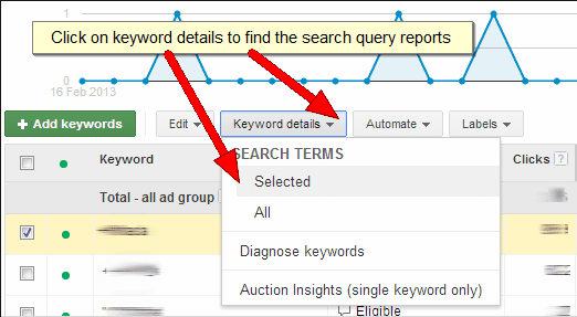 Finding search queries