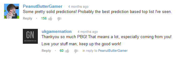 Comment From PeanutButterGamer